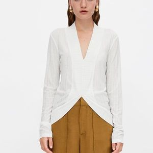 New with Tags Zara asymmetrical t-shirt sz M